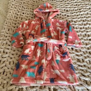 Little Blue House Small (2-3) Pink Robe